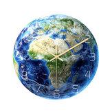Loskii CC092 Creative Luminous Earth Africa Map Wall Clock Mute Wall Clock Quartz Wall Clock For Home Office Decorations