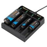 Alonefire® 3,7 V 4-slot universele intelligente batterijlader met kortsluitbeveiliging voor Li-ionbatterij 18650 26650 14500