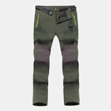 Mens Waterproof Windproof Thick Pockets Climbing Pants