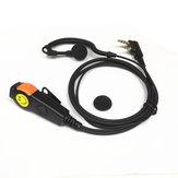 Mikrofon Walkie Talkie ile 2 Pin Kulaklık Kulaklık PTT Kulak Çengel KENWOOD BAOFENG için Iki Yönlü Radyo Telefon Kulaklığı