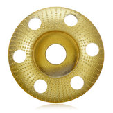 Drillpro 110mm Tungsten Carbide See Through Wood Shaping Disc Round Carving Disc with Hole 22mm Bore Sanding Grinder Wheel for 115 125 Angle Grinder