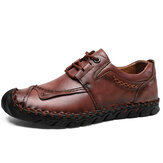 Genuine Leather Anti-collision Toe Casual Business Oxfords