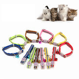 12Pcs/Lot Adjustable Pet Cat Safety Collar with Bell Reflective Breakaway Cat Dog Collar