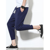 Mens Linen Straight Pants