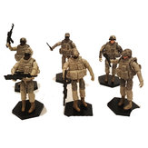 6PCS 1:18 4D Military Assembled Model Hand-held Movable Soldiers Diecast Model Toy