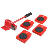 5Pcs Red Furniture Mover Hochleistungs-Lifter Mover Transport Set Möbel Rollwerkzeug
