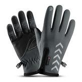 Gants d'hiver doublés en molleton thermique pour homme, écran tactile, imperméable, coupe-vent, réfléchissant, ski, mitaine de vélo