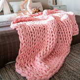 180x120cm Warm Hand Chunky Knitted Blankets Thick Yarn Wool Sofa Bed