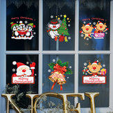 Miico SK9108 Christmas Sticker Window Cartoon Penguin Pattern Wall Stickers Removable For Room Decoration