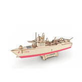 3D Woodcraft Assembly Battleship Series Kit Jigsaw Puzzle Toy Decoration Model for Kids Gift