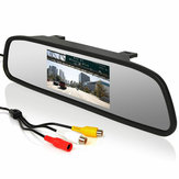 Car Rear View 5 Inch LCD Monitor Mirror Wireless Backup Camera Parking Reverse Kit