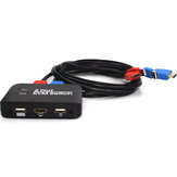 KVM Switch 2 Port Multifunctional Support Key-press Switch Button Switch U Disk Keyboard Switch