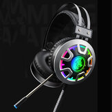 RGB Luminescente 3.5mm Jack de Áudio Com Fio Gaming Headphone Headset Som Estéreo Com LED Cabo de Áudio de Microfone