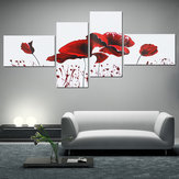 4PCS Geometric Flower Canvas Art Print Paint Wall Picture Poster Mural DIY Decoraciones