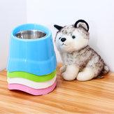 Verhoogde hond Kat Puppy Schotel Verhoogde voerbak / Waterschaal Roestvrij staal