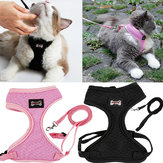 Adjustable Pet Lead Leash Cat Dog Harness And Soft Mesh Walking Harness Vest Apparel