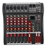 6 Channel Professional Powered Music Stereo Audio Mixer USB Power Mixing Console MP3 Player
