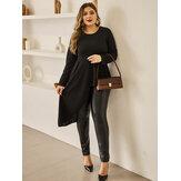 Γυναικεία μπλούζα με μαύρα ακανόνιστα πτυχωτά στρίφωμα