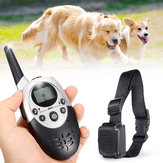 1100Yard Electric Dog Shock Training Collar Waterproof Rechargeable LCD Display