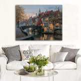 40x30cm Cityscape River Print Art Paintings Picture Poster Home Wall Art