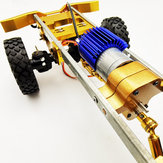 1/16 4WD Upgraded Metal RC Car Chassis Unassembled Kit for Off-Road Truck Vehicles DIY Parts