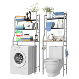 2/3 Tiers Storage Rack Over Toilet/Bathroom/Laundry/Washing Machine Shelf Unit Organizer