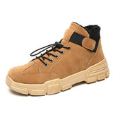 Suede Warm Plush Lining Rubber Sole Ankle Boots