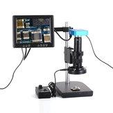 HAYEAR Komplet sæt 34MP industrielt mikroskopkamera HDMI USB-udgange med 180X C-monteringsobjektiv 60 LED-lysmikroskop med 8