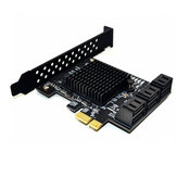 ITHOO PCE6SAT-M01 6 Ports SATA3.0 SSD PCI-E Expansion Card 6Gbps IPFS Hard Disk Adapter for Desktop Computer