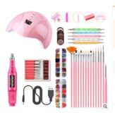 Nail Polishing Set Nail Art Set Nail Lamp Sander Nail Brush Nail Pen