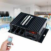 AK370 400 Вт DC 12 В / 220 В переменного тока Дистанционное Управление Bluetooth HiFi Домашняя автомобильная стерео Усилитель Музыка Приемник FM Радио 20 Гц