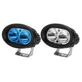 12V دراجة نارية البيضاوي الأضواء LED العمل ضوء ضد للماء IP67 العالمي