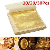 10 قطع ورق الذهب التقليد ورقة احباط