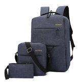 外付けUSB充電コンピューターバックパック付き15.6インチ用1 in 3ラップトップバッグカジュアルトラベルビジネス大容量