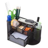 9 Aufbewahrung Multifunktions-Schreibtisch-Organizer Metall-Aufbewahrungsgitter Stifthalter Stationery Container Box Office Schule Zubehör