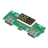 LED Dual USB 5V 2.1A Micro USB Input Power Bank 18650 Battery Charger Board Overcharge Overdischarge Short Circuit Protection