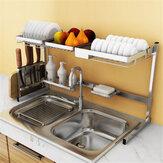 Стеллаж для кухни из нержавеющей стали Пластина Стойки для посуды
