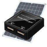 Junção de painel solar DIY Caixa Regulador de tensão duplo USB