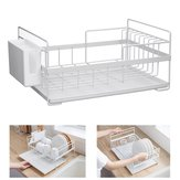 Dish Drainer Cutlery Holder Utensils Drying Rack Kitchen Storage Organizer Tool