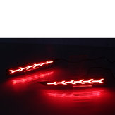 2pcs carro LED luzes de nevoeiro traseiras luzes refletor para Hyundai solaris sotaque 2017-2019