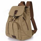 Women Men Canvas Travel Satchel Shoulder Bag Backpack School Rucksack Drawstring