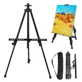 Folding Iron Easel Stand Tripod Adjustable Height Lightweight Sturdy Painting Display Portable Sketching Rack with Carrying Bag
