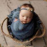 Neonatal Projects Children's Braided Basket Newborn Baby Photo Braided Frame Decorations