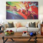 120x60 cm abstrait ondulation toile impression d'art peintures à l'huile mur photo décor à la maison