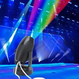 1W RGB LED Colorful Lâmpada de palco Shell preto Spot Light para Disco KTV Party AC110-220V