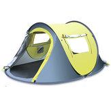 3-4人屋外クイック自動オープンテント防水防雨キャノピーサンシェードシェルターキャンプハイキング