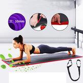 KALOAD 10mm Tyk Yoga Mat Komfortabel skridsikker træningsplads Gymnastik Fitness Skummåtter