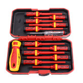 13Pcs Max 1000V VDE Insulated Interchangeable Blade Screwdriver Set Riding Bike Repair Tools Screwdriver
