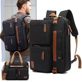 2 In 1 Nylon Rucksack 15.6/17.3inch Laptop Bag School Backpack Handbag Business Handbag