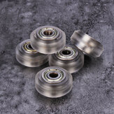 15pcs Transparent Pulley Wheel with 625zz Double Bearing for V-slot 3D Printer
